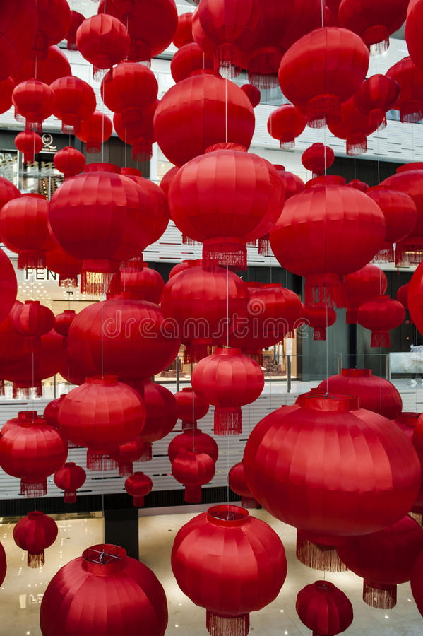 Red Lantern. S are a symbol of Chinese festivity. Photos taken in 2017 Chinese Lunar New Year stock photos