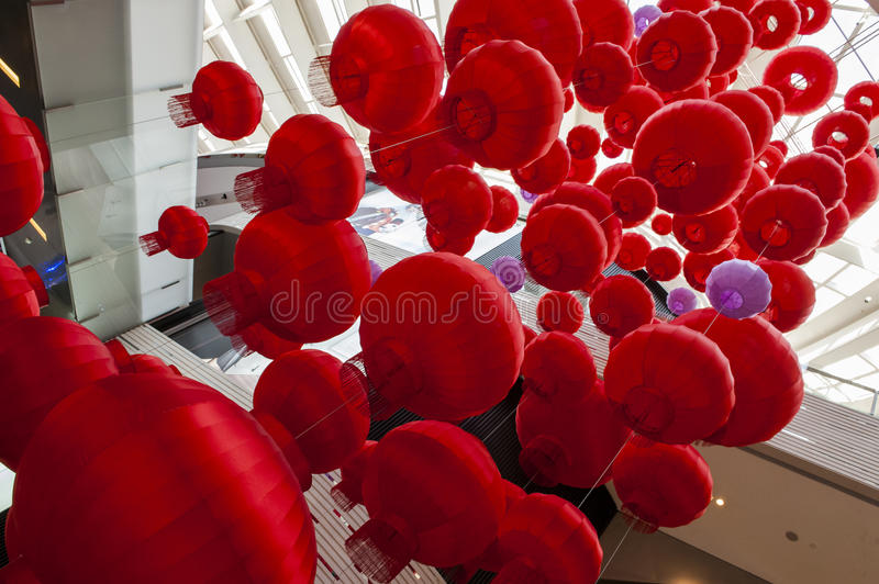 Red Lantern. S are a symbol of Chinese festivity. Photos taken in 2017 Chinese Lunar New Year royalty free stock photography