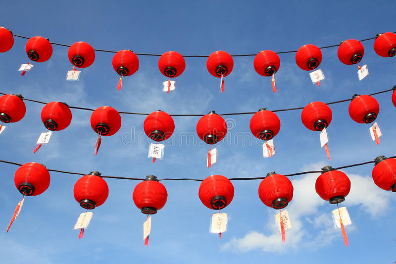 Download Red lanterns stock image. Image of culture, temple, lantern - 29268025