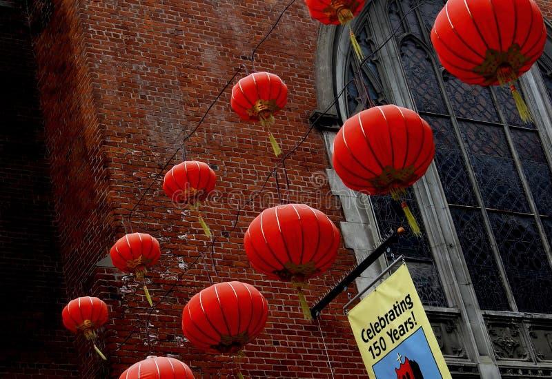 Red Lanterns royalty free stock images