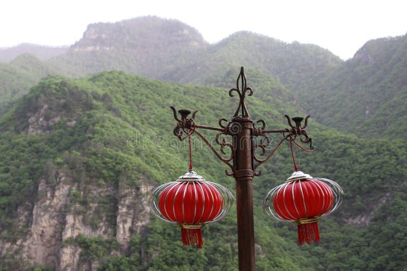 Download Red Lanterns On The Bracket Stock Image - Image: 28476315