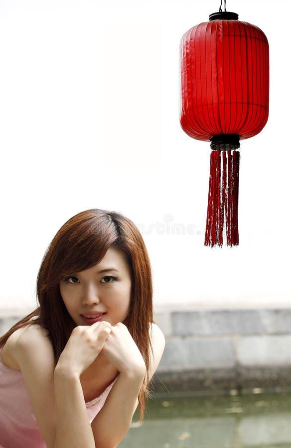 Download Red Lanterns And Girls. Royalty Free Stock Image - Image: 5505406