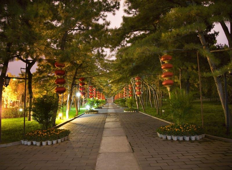Download Red Lanterns Temple Sun Park Beijing China Night Royalty Free Stock Image - Image: 6688946