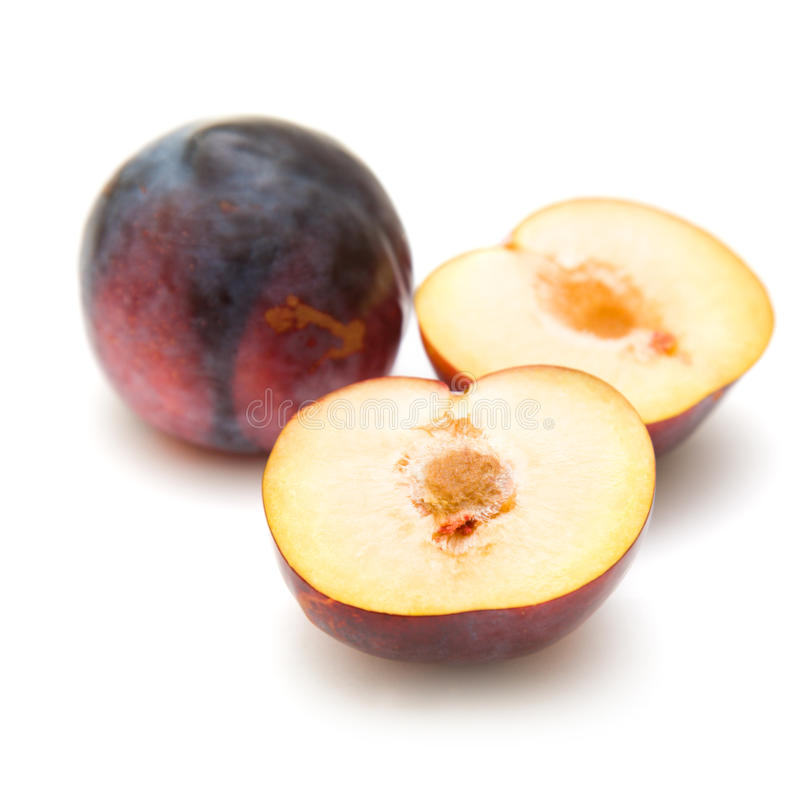 Download Red large plums stock image. Image of seasonal, isolated - 16374437