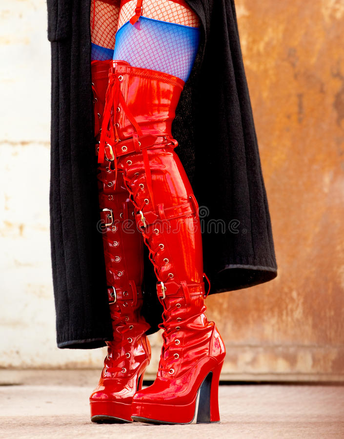 Download Red latex boots stock image. Image of uniform, shoes - 13566101