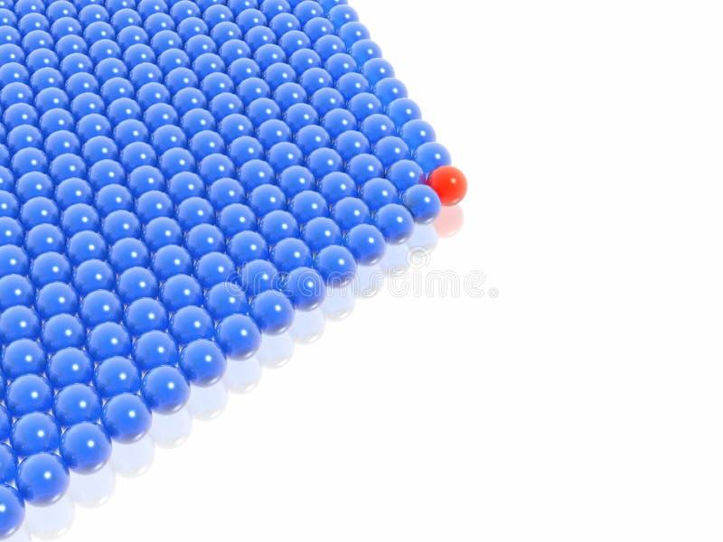 Download Red leader of balls group stock illustration. Illustration of leadership - 2812323