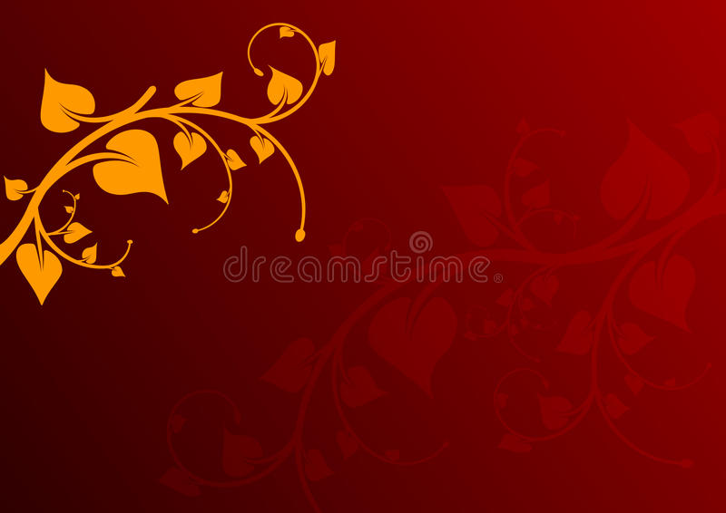 Red Leaf Background Royalty Free Stock Photo