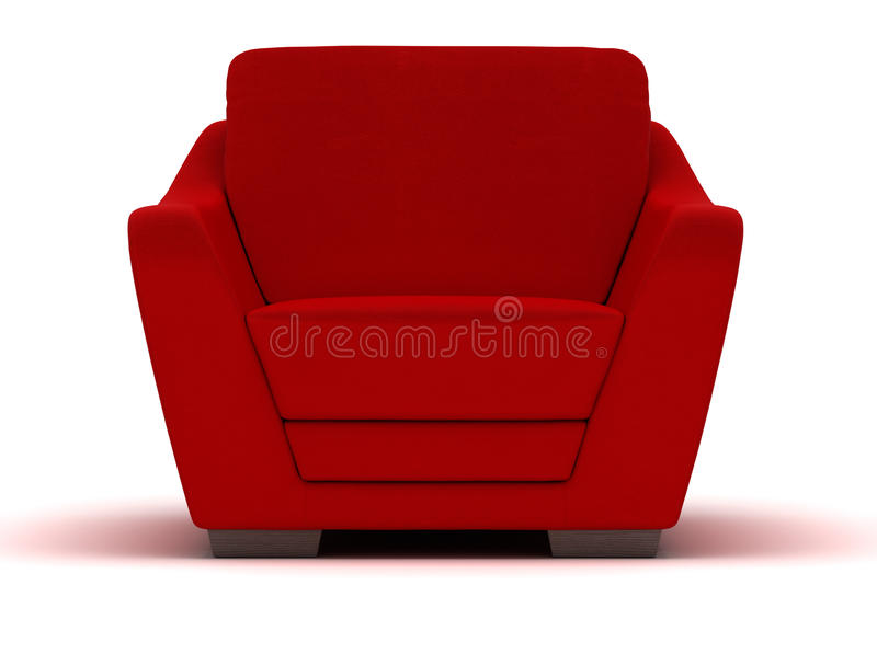 Red Leather Armchair stock photo
