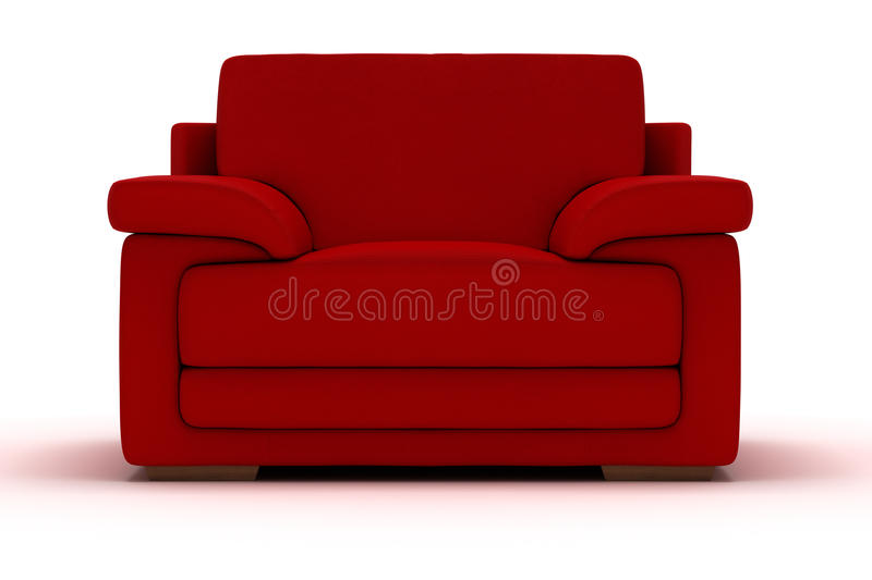 Red Leather Armchair royalty free stock photos