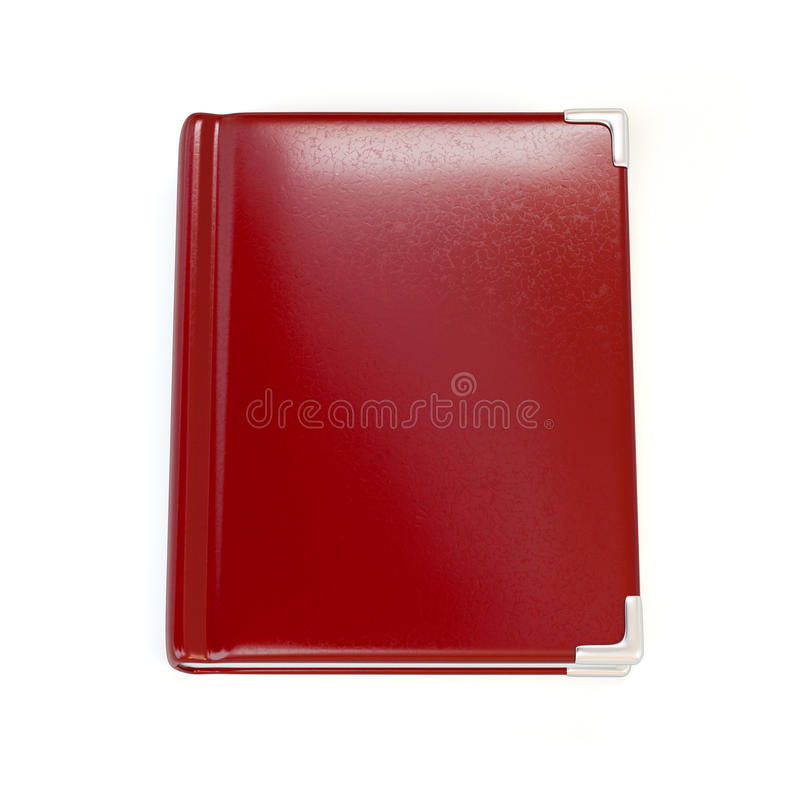 Red leather book stock illustration