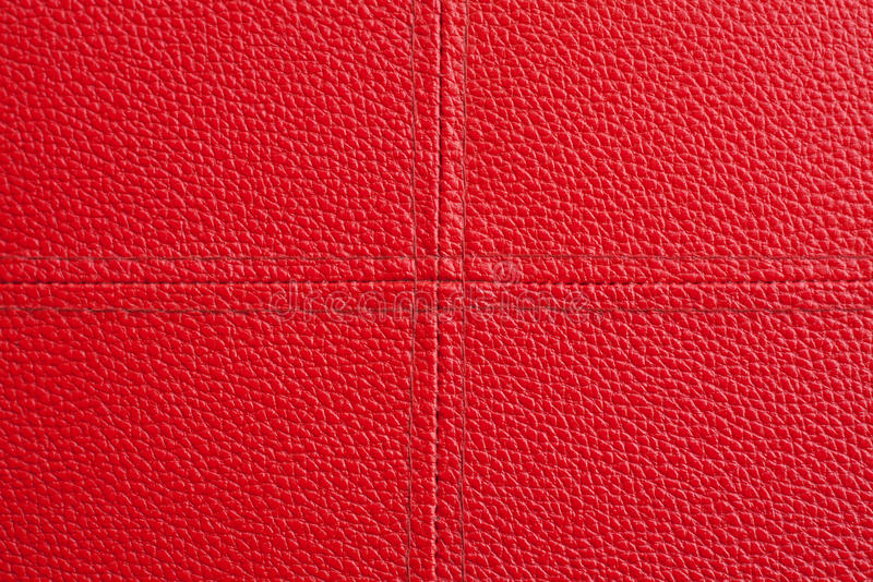 Download Red Leather With Cross Sewing Background Stock Image - Image: 32108961