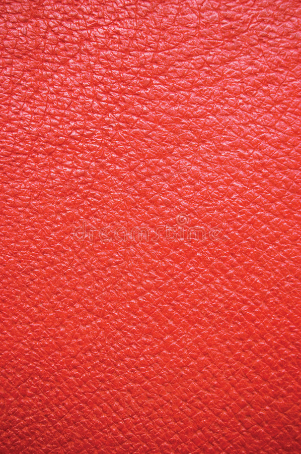 Red Leather Natural Texture Background, Vertical. Red natural leather texture, wide macro, suitable as a background, etc royalty free stock image