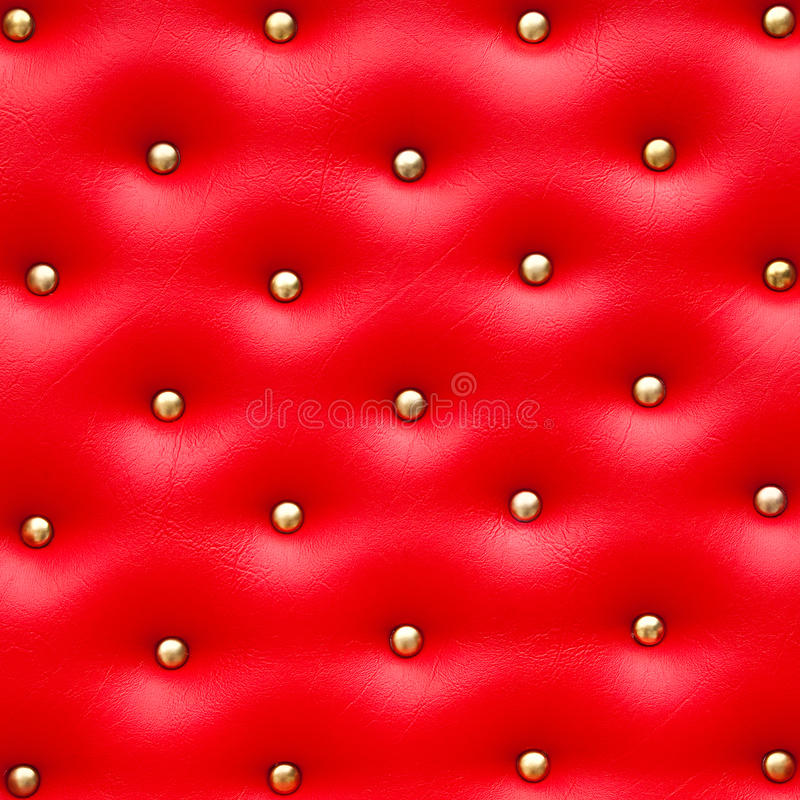 Free Red Leather Pattern With Knobs Royalty Free Stock Images - 28651899