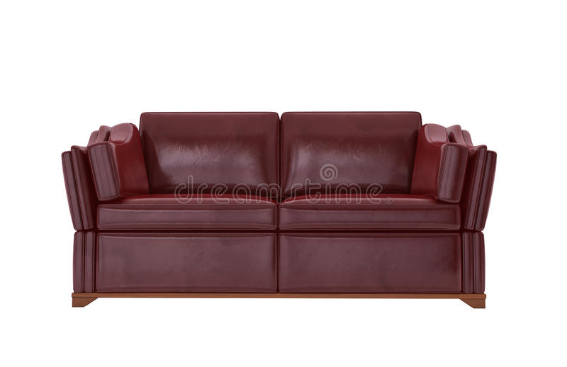 Download Red leather sofa stock image. Image of comfort, comfortable - 18921405