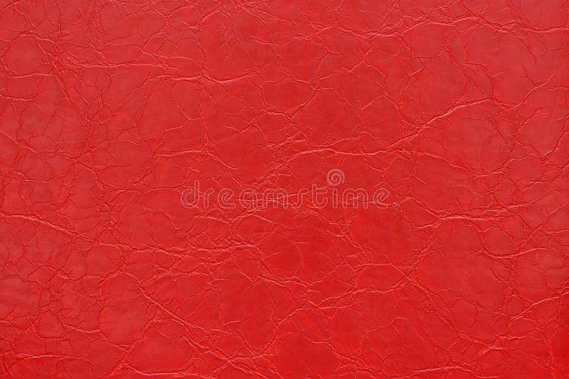 Red Skin Leather Imitation Wallpaper Background Stock Photos