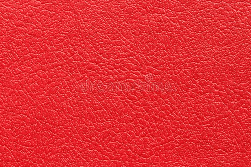 Red leather texture background. royalty free stock image