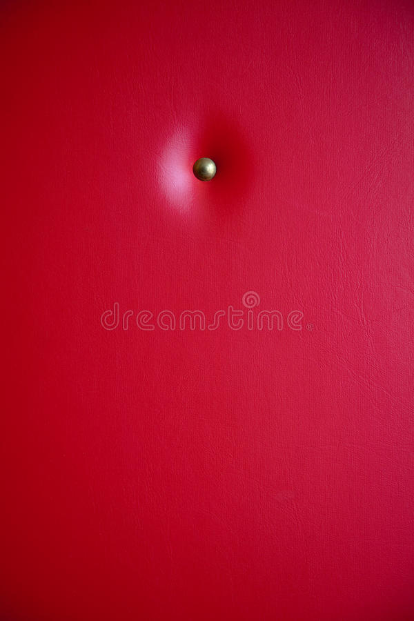 Red leather upholstery royalty free stock photos