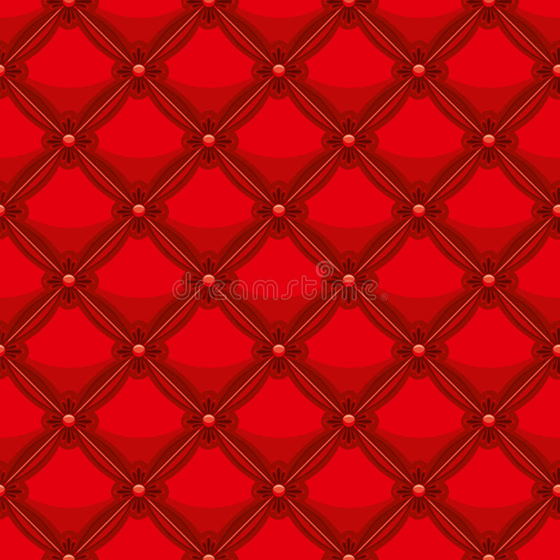 Red Leather Upholstery Stock Photo