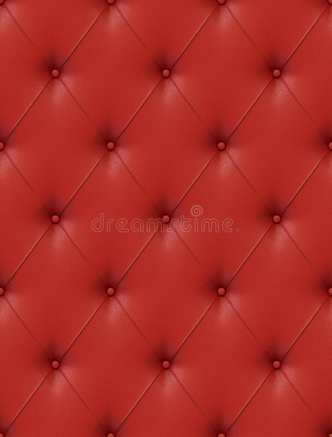 Download Red leather upholstery stock illustration. Image of detail - 22686665