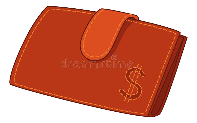 Download Red Leather Wallet With Dollar Sign Stock Vector - Image: 23322537