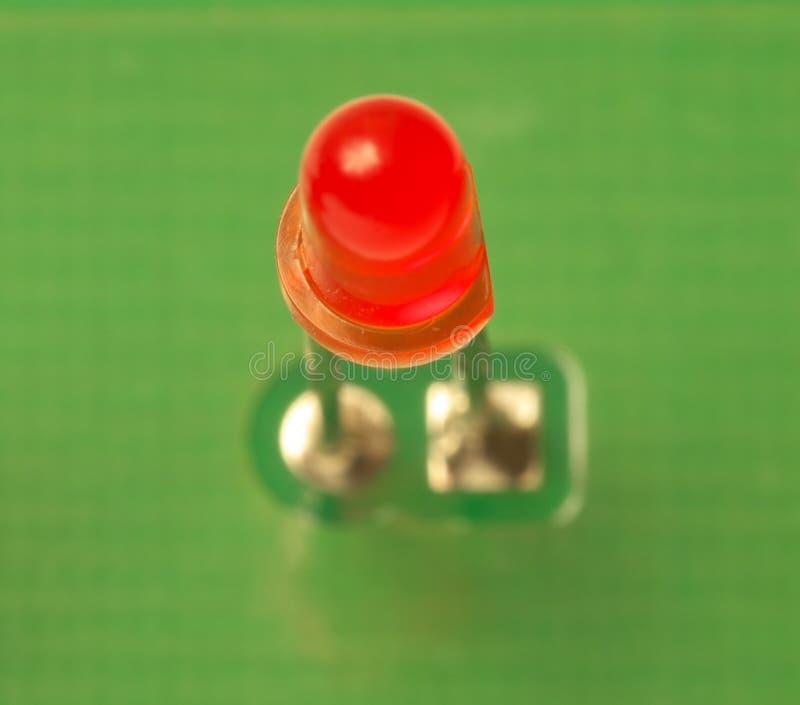 Red LED indicator stock photo