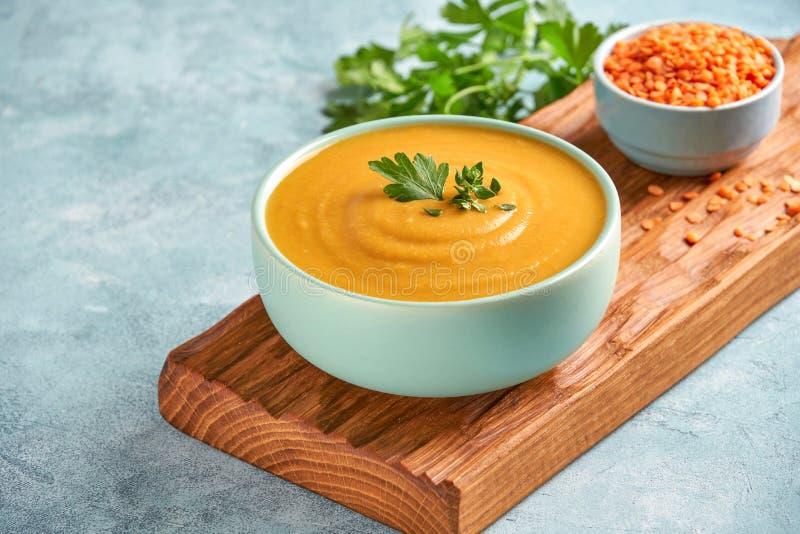 Red lentil soup Shorbat Adas . Traditional middle eastern ramadan food. Close up. Red lentil soup.Traditional middle eastern ramadan food royalty free stock image
