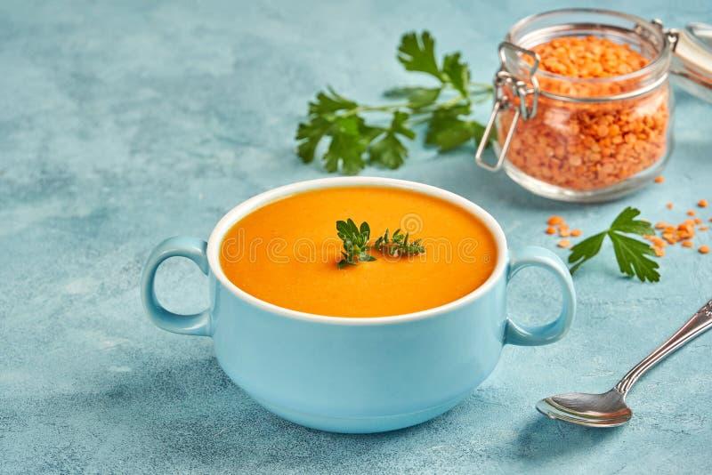 Red lentil soup. Traditional middle eastern, turkish , ramadan cuisine. Vegan food. Red lentil soup. Traditional middle eastern, turkish , ramadan cuisine royalty free stock images