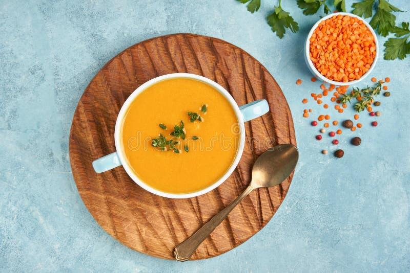 Red lentil soup. Traditional middle eastern, turkish , ramadan cuisine. Vegan food. Red lentil soup. Traditional middle eastern, turkish , ramadan cuisine stock image