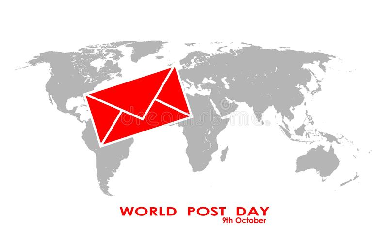 Red letter and world map illustration design background vector illustration