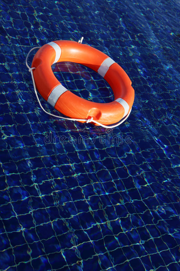 Download Red life buoy stock image. Image of floating, surface - 12068561