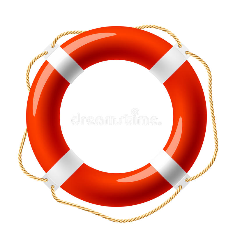 Free Red Life Buoy Royalty Free Stock Photos - 17306188