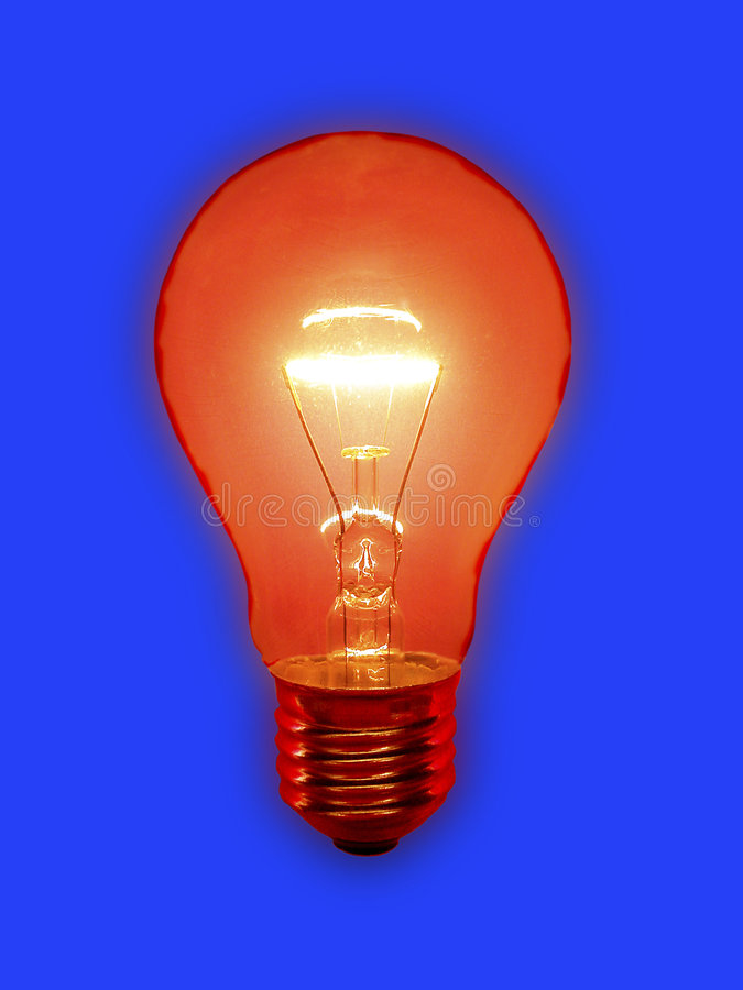 Free Red Light Bulb Royalty Free Stock Photo - 4963165