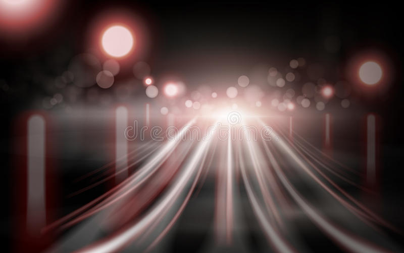 Red light streaks element. Bokeh background 3d illustration royalty free illustration