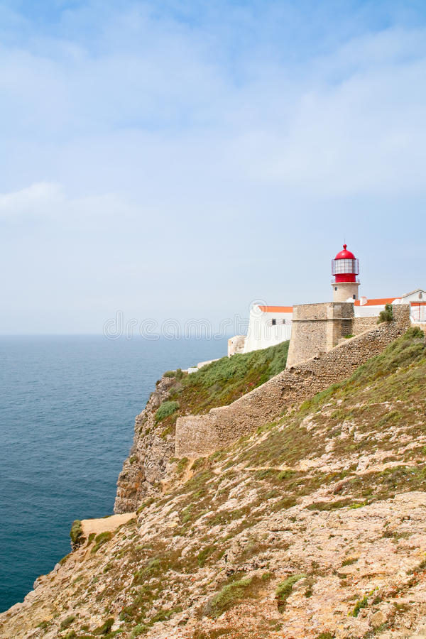 Download Red lighthouse on stock image. Image of vicent, nobody - 18466301