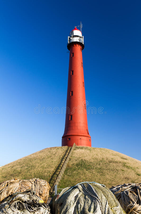 Red Lighthouse Stock Photography