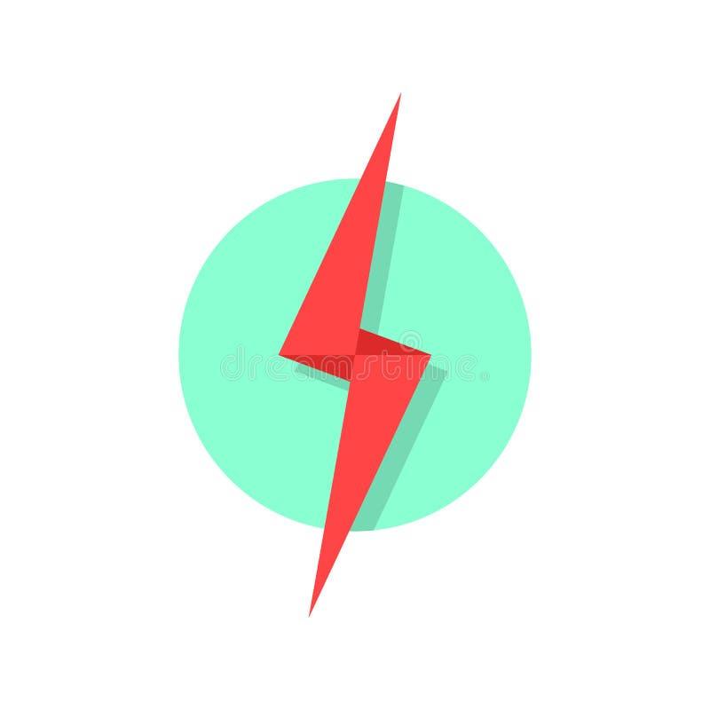 Red lightning icon like flash logo vector illustration