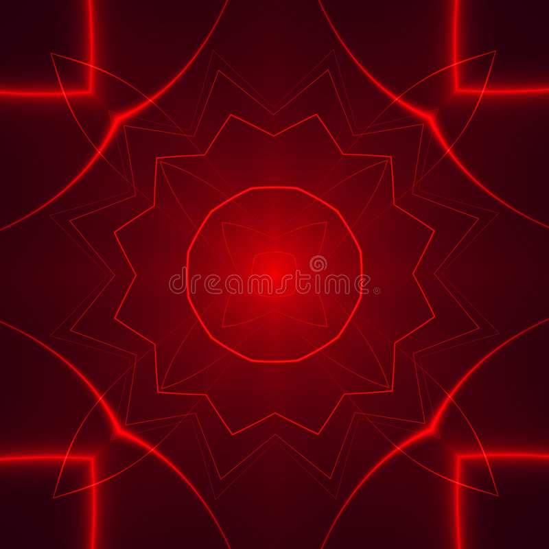 Red Lights in the dark vector illustration