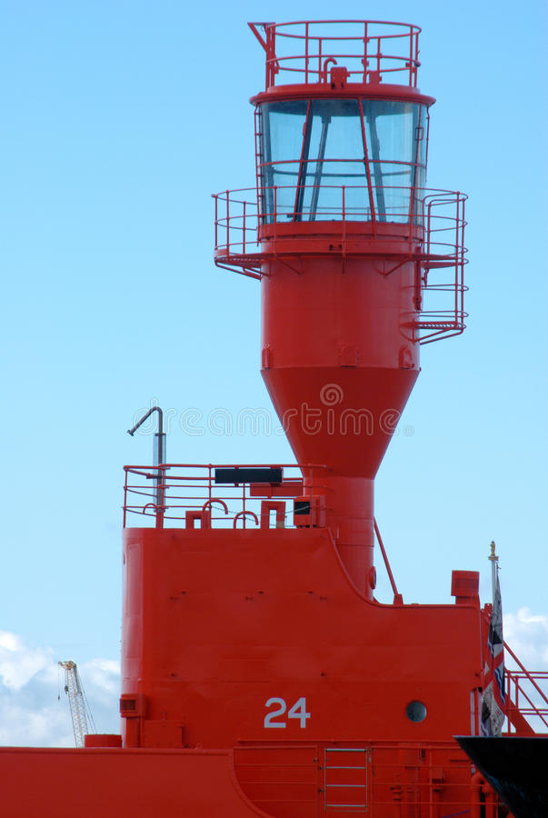 Red lightship stock images