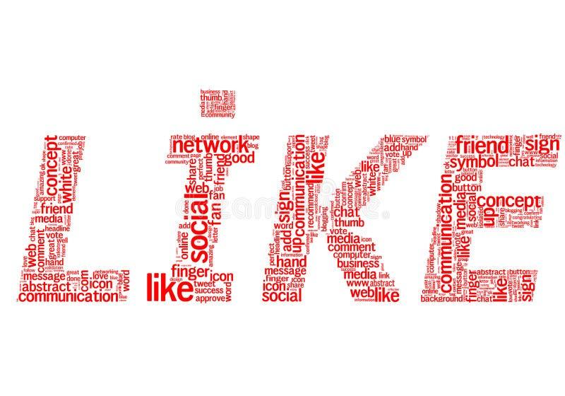Download Red like stock illustration. Image of media, hand, like - 25471068