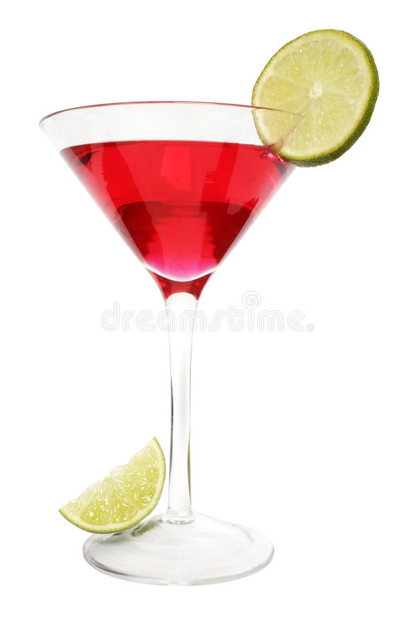 Red Lime Cocktail royalty free stock photo