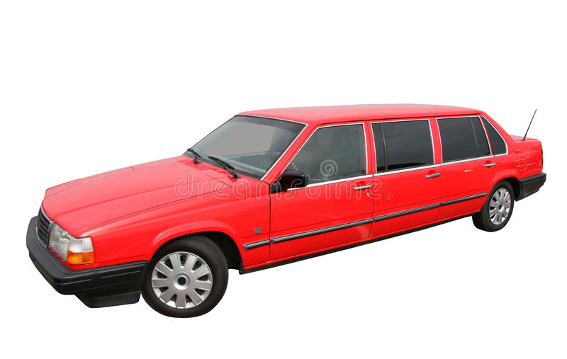 Red limousine stock photos