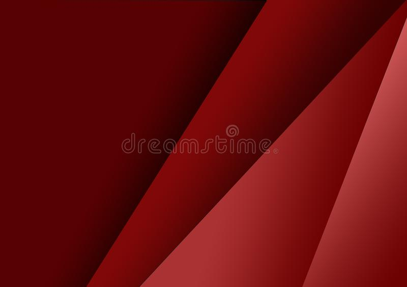 Red linear shape background gradient background vector illustration