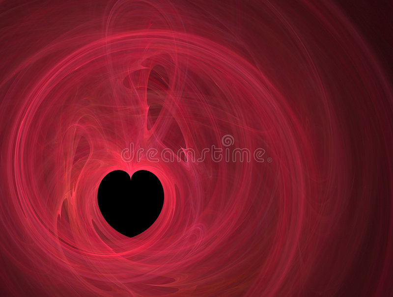 Red lines and a black heart stock illustration