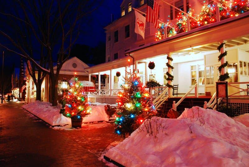 Red Lion Inn, Christmas royalty free stock photos