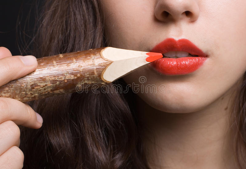 Download Red lip stock photo. Image of beautiful, glamour, elegance - 20379550