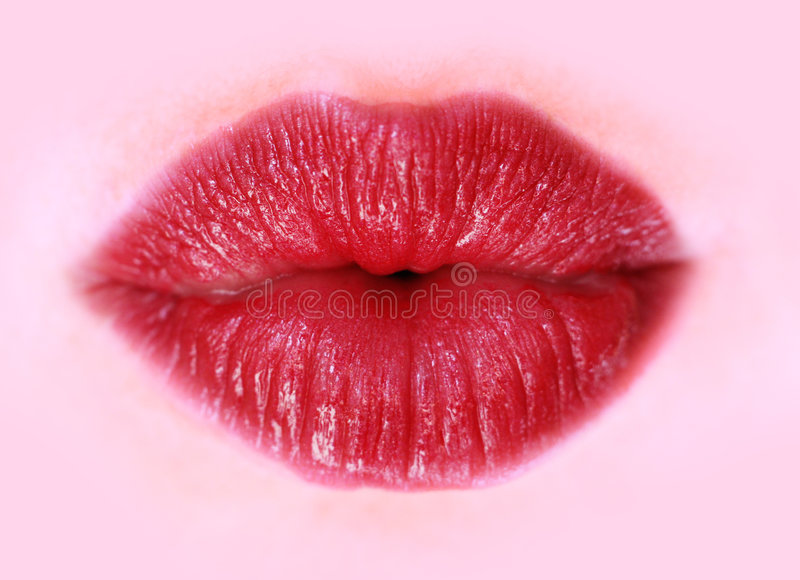 Download Red lips stock image. Image of pucker, lips, silent, pout - 7223959