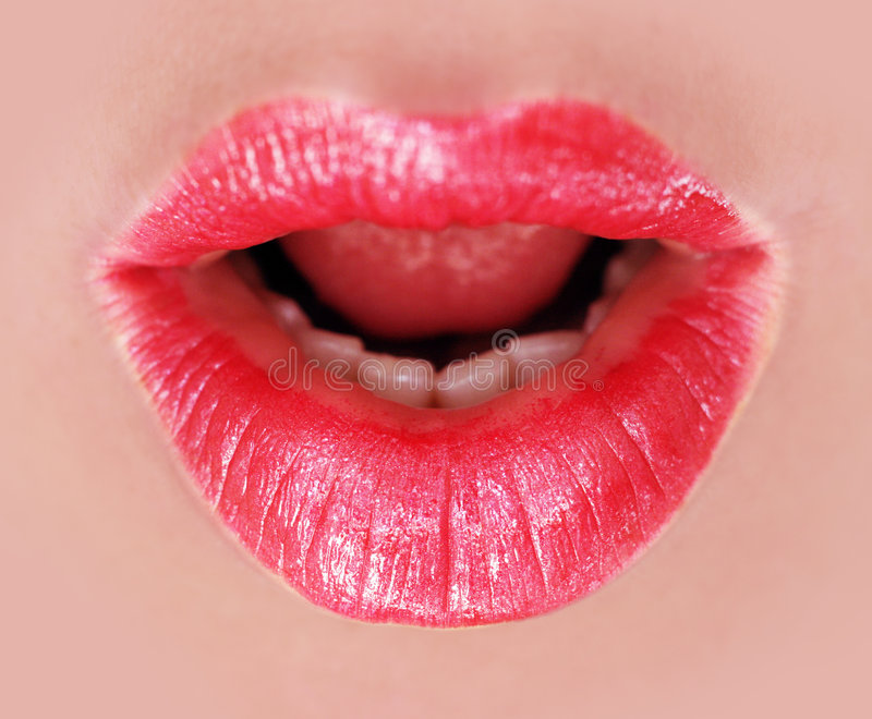 Download Red lips stock image. Image of healthy, sensual, female - 7223991
