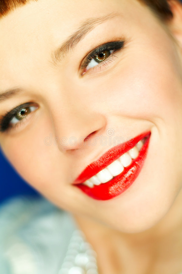 Download Red Lips stock image. Image of luscious, care, dentistry - 725993