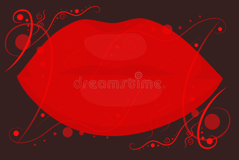 Download Red Lips On Black Background Stock Vector - Illustration: 24244273