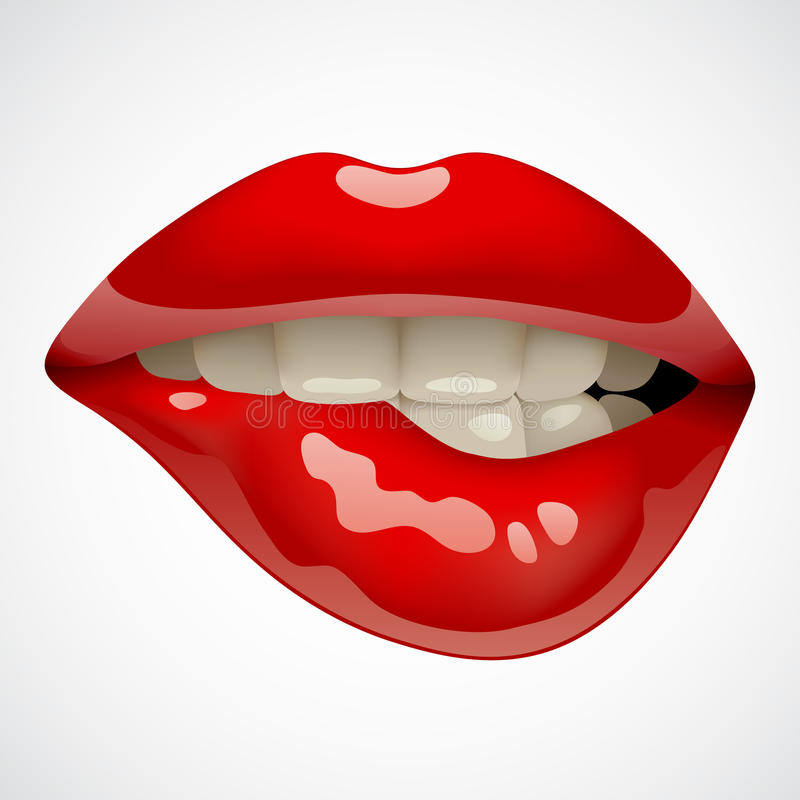 Red lips vector illustration